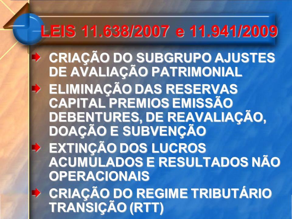 NBC TG 13, TRATA DA APLICAÇÃO INICIAL DAS ALTERAÇÕES PROMOVIDAS PELAS LEIS A EMPRESA TEVE QUE ELABORAR BALANÇO PATRIMONIAL INICIAL NA DATA DE TRANSIÇÃO DAS NORMAS, CUJO PONTO DE PARTIDA FOI 31/12/2008 AJUSTES NECESSÁRIOS DE EFEITO RETROATIVO SERÃO REGISTRADOS EM CONTA DE LUCROS OU PREJUÍZOS ACUMULADOS ADOÇÃO INICIAL NORMAS