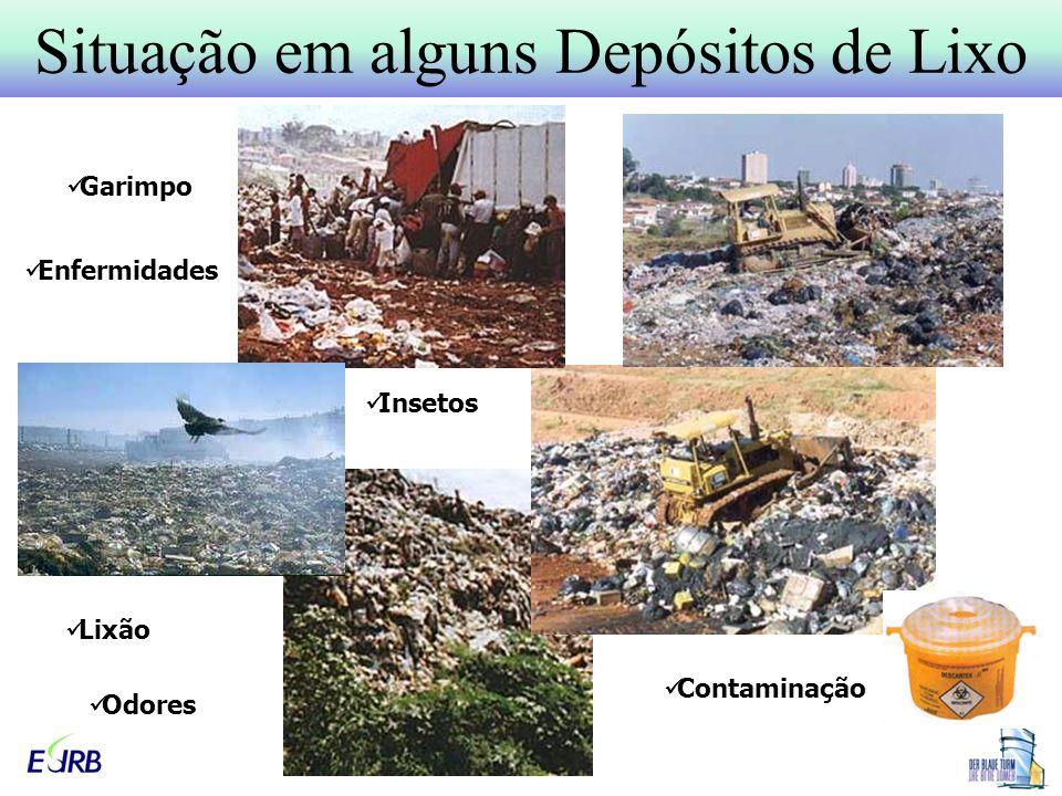 Situação em alguns Depósitos de Lixo Lixão Insetos Garimpo Enfermidades Contaminação Odores