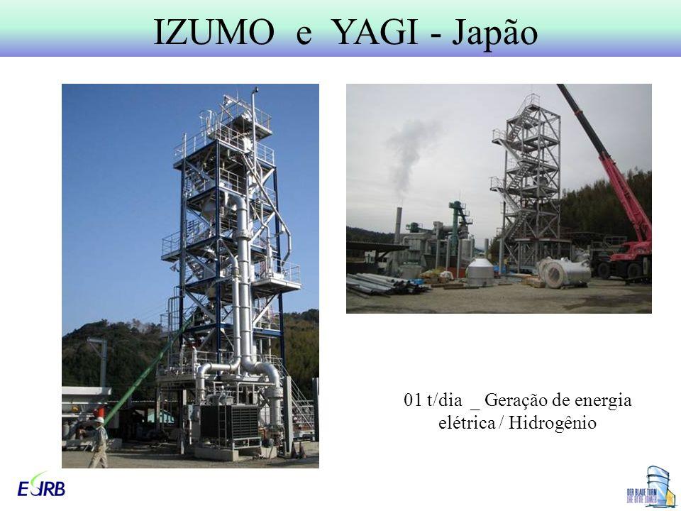 IZUMO e YAGI - Japão 01 t/dia _ Geração de energia elétrica / Hidrogênio