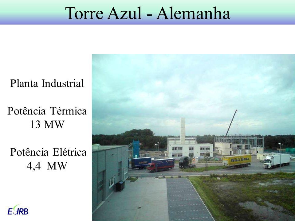 Planta Industrial Potência Térmica 13 MW Potência Elétrica 4,4 MW Torre Azul - Alemanha