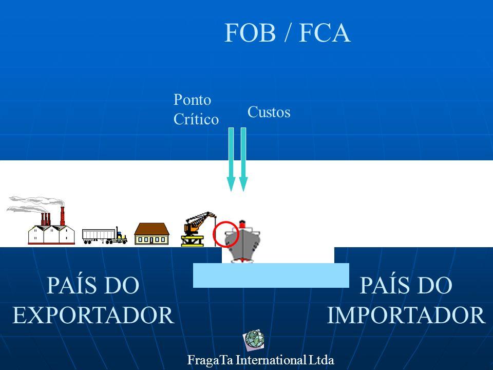 FragaTa International Ltda PAÍS DO IMPORTADOR PAÍS DO EXPORTADOR FOB / FCA Ponto Crítico Custos