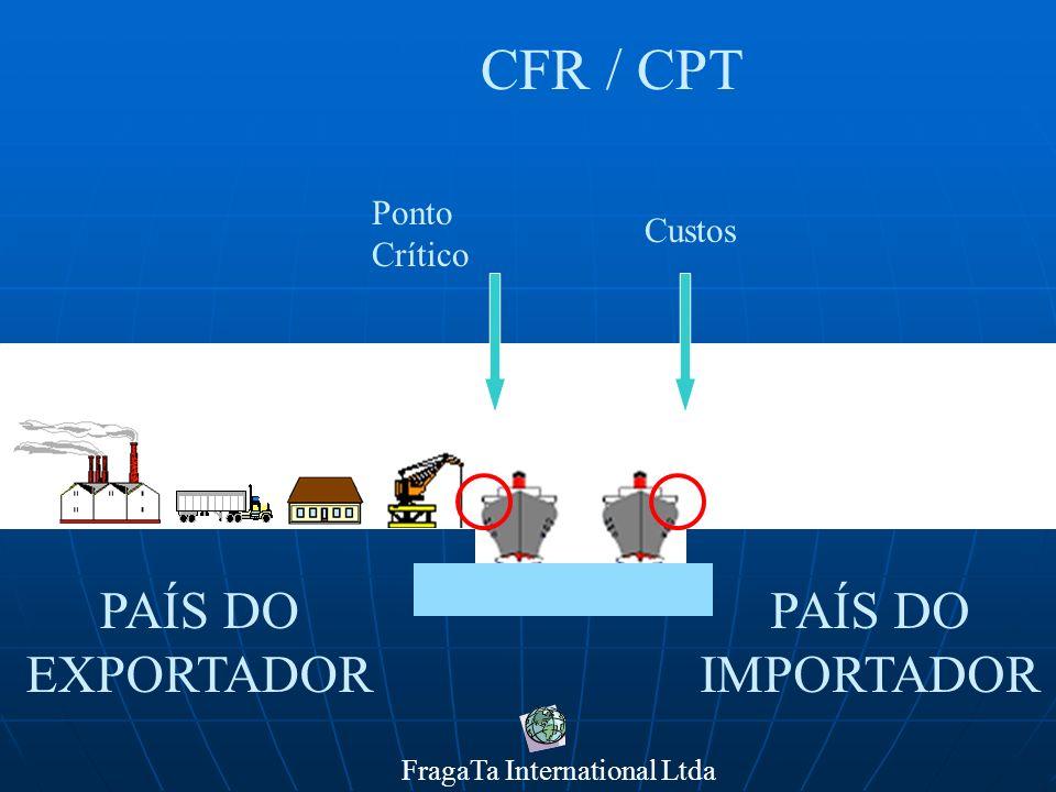 FragaTa International Ltda PAÍS DO IMPORTADOR PAÍS DO EXPORTADOR CFR / CPT Ponto Crítico Custos