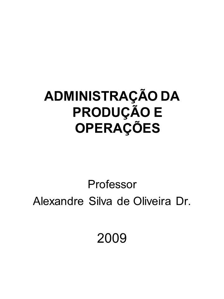 ADMINISTRAÇÃO DA PRODUÇÃO E OPERAÇÕES Professor Alexandre Silva de Oliveira Dr. 2009
