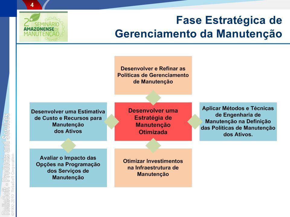 ©1992-2010 ReliaSoft Corporation 4 Fase Estratégica de Gerenciamento da Manutenção