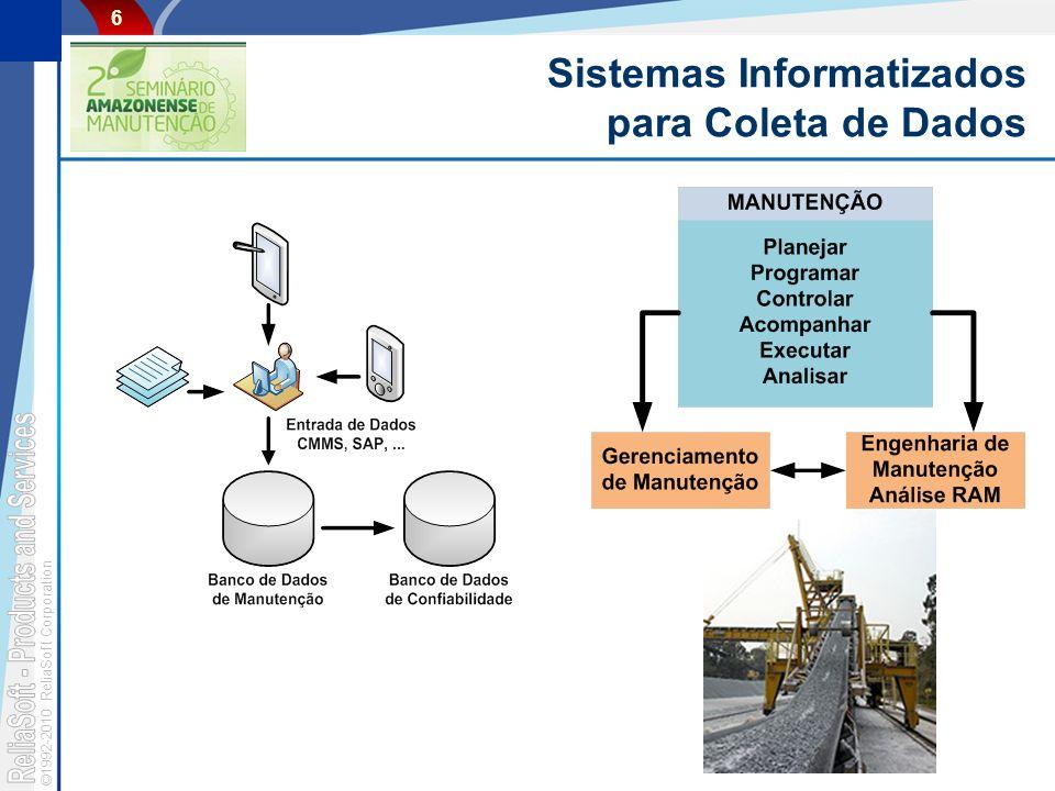©1992-2010 ReliaSoft Corporation 6 Sistemas Informatizados para Coleta de Dados