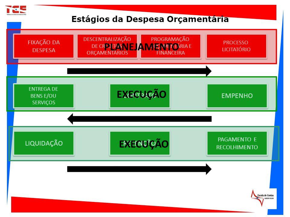 TEMPO FIXAÇÃO DA DESPESA FIXAÇÃO DA DESPESA DESCENTRALIZAÇÃO DE CRÉDITOS ORÇAMENTÁRIOS DESCENTRALIZAÇÃO DE CRÉDITOS ORÇAMENTÁRIOS TEMPO PROCESSO LICIT