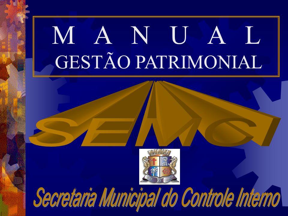 M A N U A L GESTÃO PATRIMONIAL