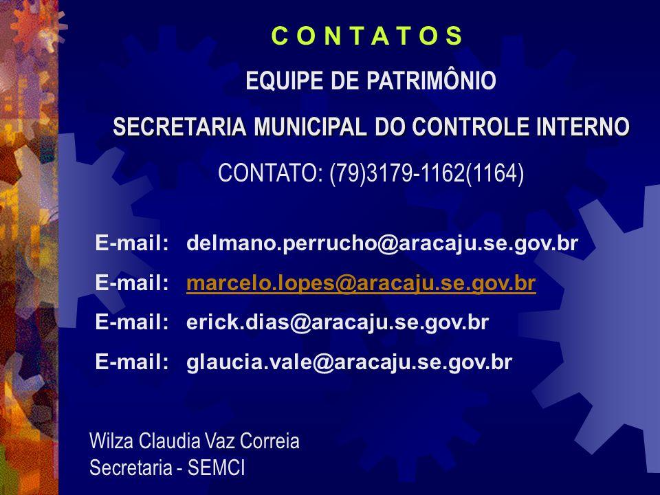 E-mail: delmano.perrucho@aracaju.se.gov.br E-mail: marcelo.lopes@aracaju.se.gov.brmarcelo.lopes@aracaju.se.gov.br E-mail: erick.dias@aracaju.se.gov.br