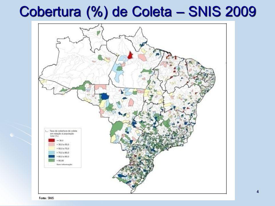 4 Cobertura (%) de Coleta – SNIS 2009