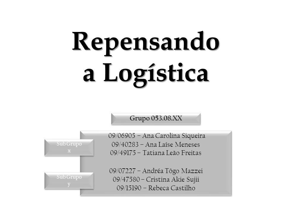 Repensando a Logística 09/06905 – Ana Carolina Siqueira 09/40283 – Ana Laíse Meneses 09/49175 – Tatiana Leão Freitas 09/07227 – Andréa Tôgo Mazzei 09/