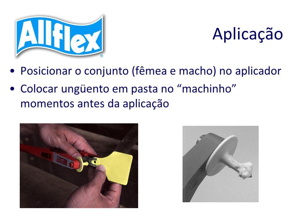 Aplicação Posicionar o conjunto (fêmea e macho) no aplicador Colocar ungüento em pasta no machinho momentos antes da aplicação