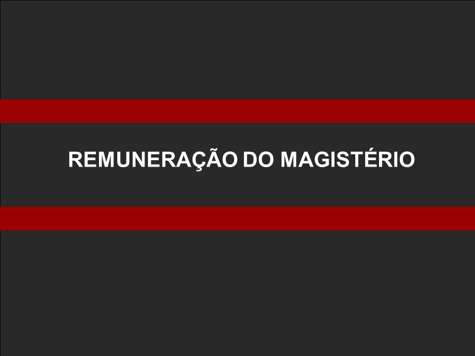 REMUNERAÇÃO DO MAGISTÉRIO