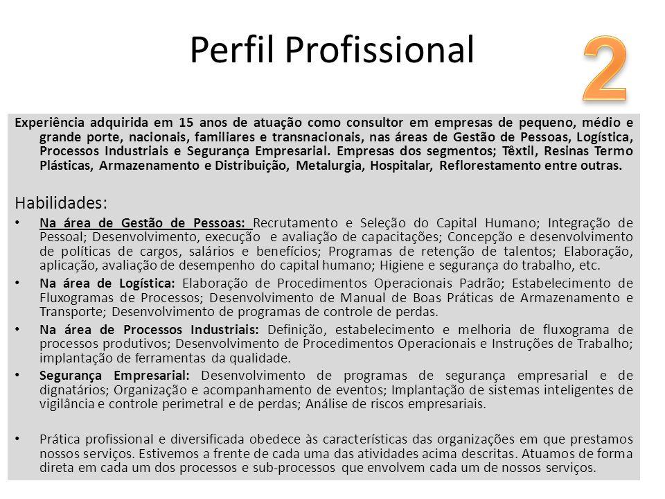 Experiência adquirida em 15 anos de atuação como consultor em empresas de pequeno, médio e grande porte, nacionais, familiares e transnacionais, nas á