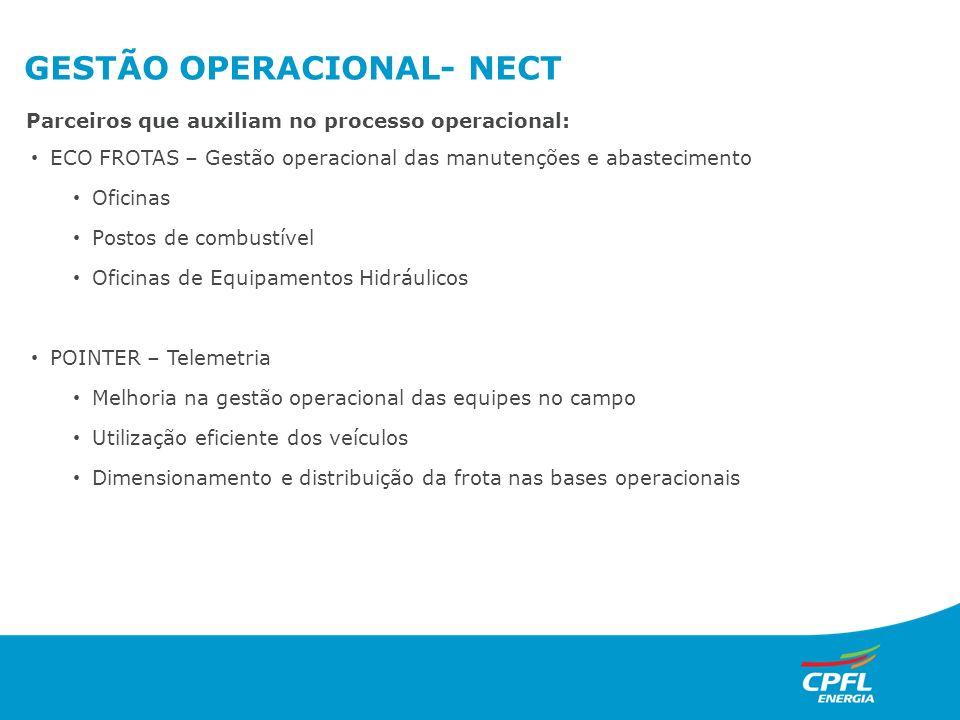 GESTÃO OPERACIONAL- NECT ECO FROTAS – Gestão operacional das manutenções e abastecimento Oficinas Postos de combustível Oficinas de Equipamentos Hidrá