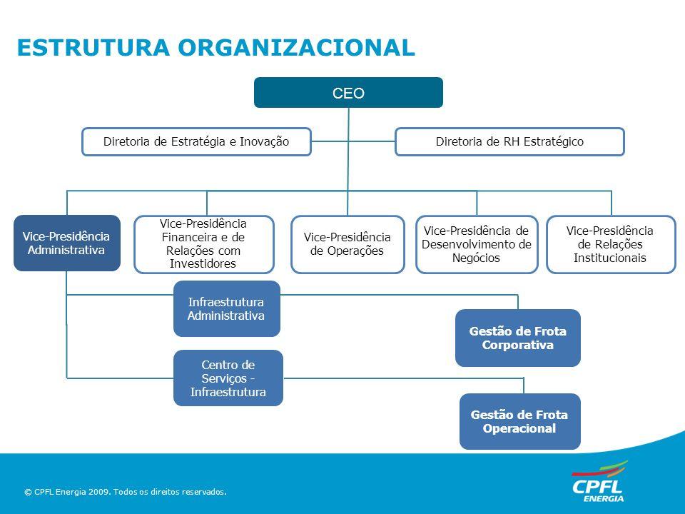 ESTRUTURA ORGANIZACIONAL CEO Diretoria de Estratégia e InovaçãoDiretoria de RH Estratégico Vice-Presidência de Operações Vice-Presidência Administrati