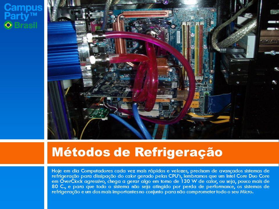 Hoje em dia Computadores cada vez mais rápidos e velozes, precisam de avançados sistemas de refrigeração para dissipação do calor gerado pelas CPUs, lembramos que um Intel Core Duo Core em OverClock agressivo, chega a gerar algo em torno de 130 W de calor, ou seja, pouco mais de 80 C., e para que todo o sistema não seja atingido por perda de performance, os sistemas de refrigeração e um dos mais importantes no conjunto para não comprometer todo o seu Micro.