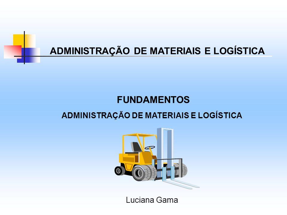 ADMINISTRAÇÃO DE MATERIAIS E LOGÍSTICA FUNDAMENTOS ADMINISTRAÇÃO DE MATERIAIS E LOGÍSTICA Luciana Gama