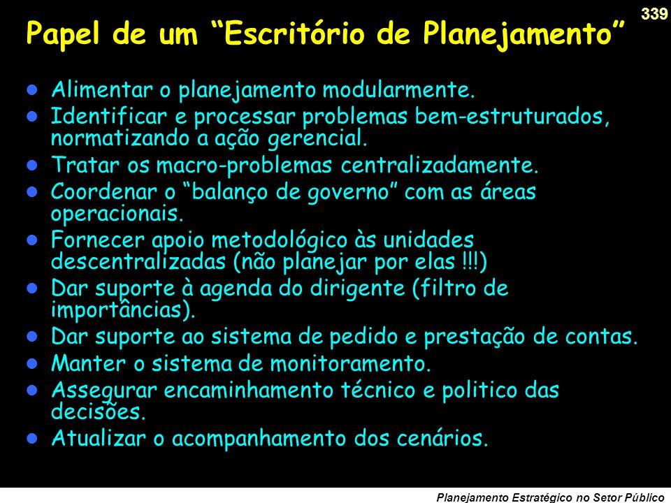 338 Planejamento Estratégico no Setor Público Debater o triângulo de ferro das organizações.