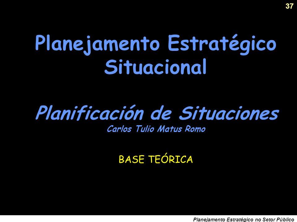 36 Planejamento Estratégico no Setor Público Requisitos para um modelo teórico que funcione... Coerência Consistência interna entre suposições e concl