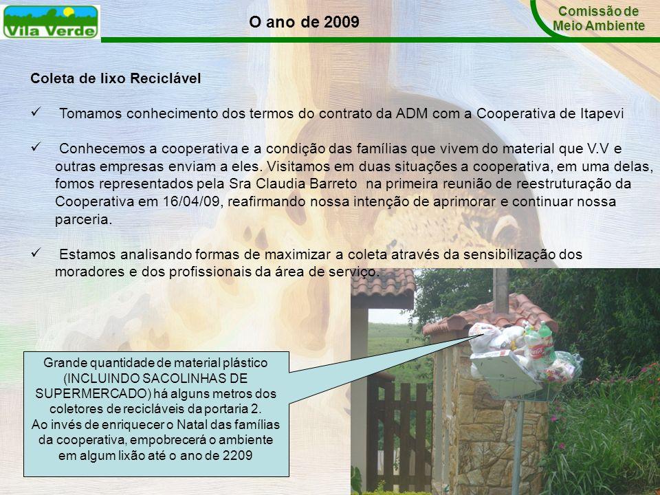 Coleta de lixo Reciclável Tomamos conhecimento dos termos do contrato da ADM com a Cooperativa de Itapevi Conhecemos a cooperativa e a condição das fa