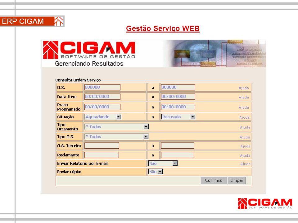 ERP CIGAM Gestão Serviço WEB