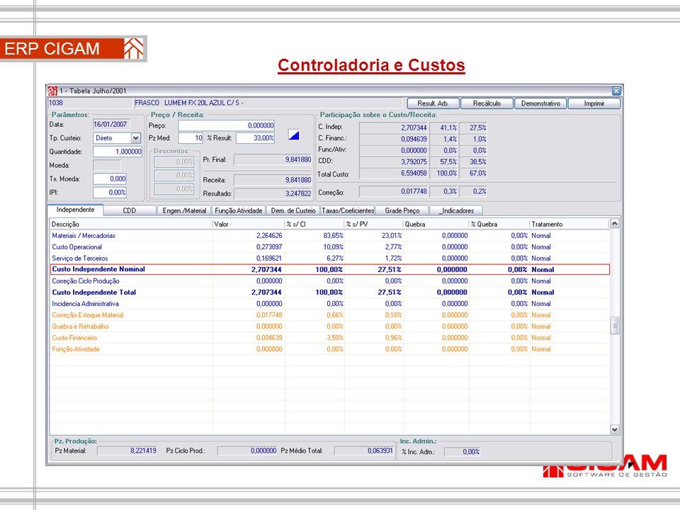 Controladoria e Custos ERP CIGAM