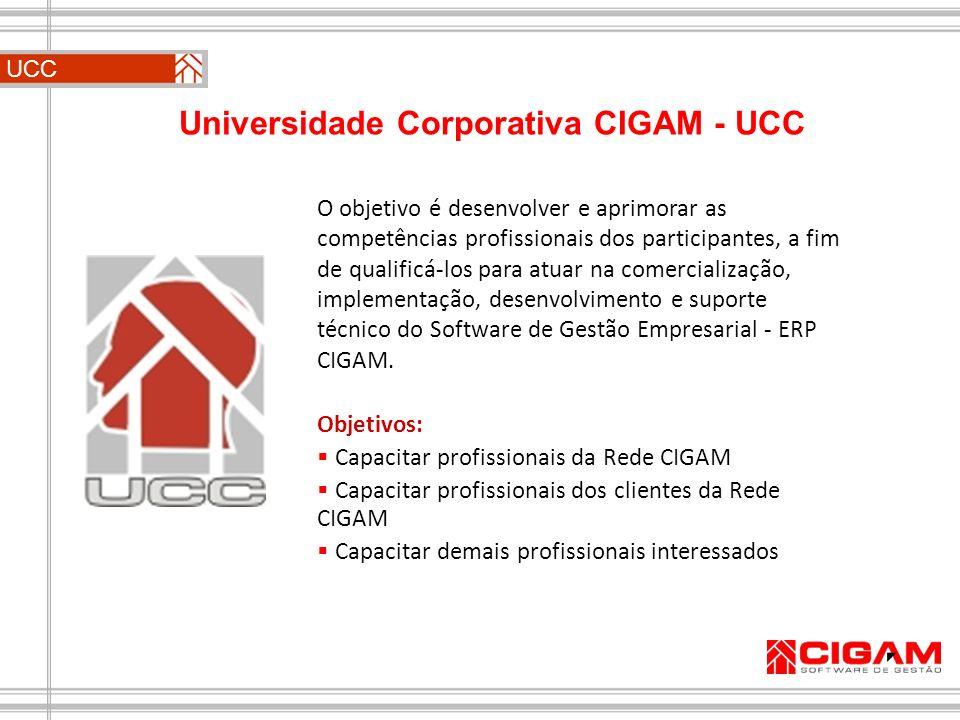 UCC O objetivo é desenvolver e aprimorar as competências profissionais dos participantes, a fim de qualificá-los para atuar na comercialização, implem