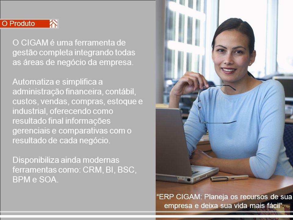 O CIGAM é uma ferramenta de gestão completa integrando todas as áreas de negócio da empresa. Automatiza e simplifica a administração financeira, contá