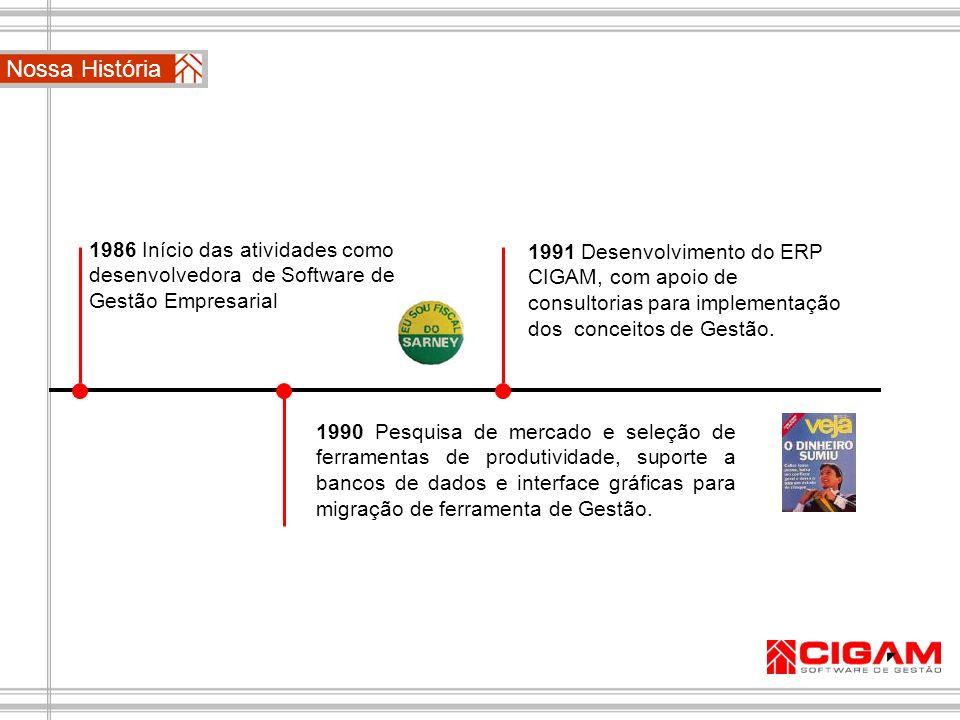 ERP CIGAM Contabilidade, Fiscal e Patrimonial Controle Patrimonial Ferramenta com grande abrangência e flexibilidade na administração e gerenciamento do patrimônio da empresa.