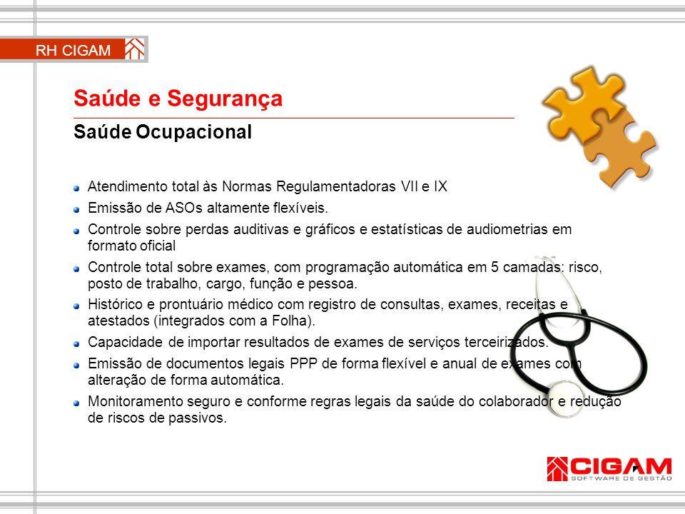 Saúde Ocupacional Atendimento total às Normas Regulamentadoras VII e IX Emissão de ASOs altamente flexíveis. Controle sobre perdas auditivas e gráfico