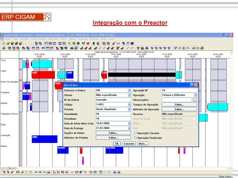 ERP CIGAM Integração com o Preactor