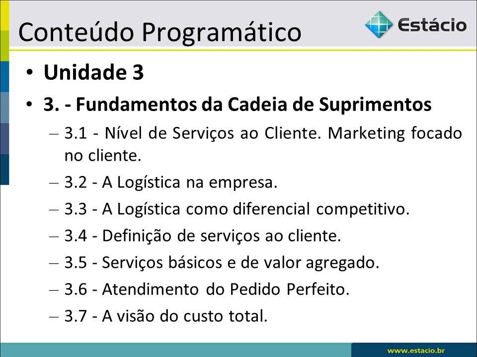 Conteúdo Programático Unidade 3 3.
