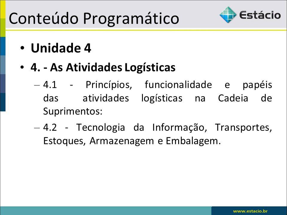 Conteúdo Programático Unidade 4 4.