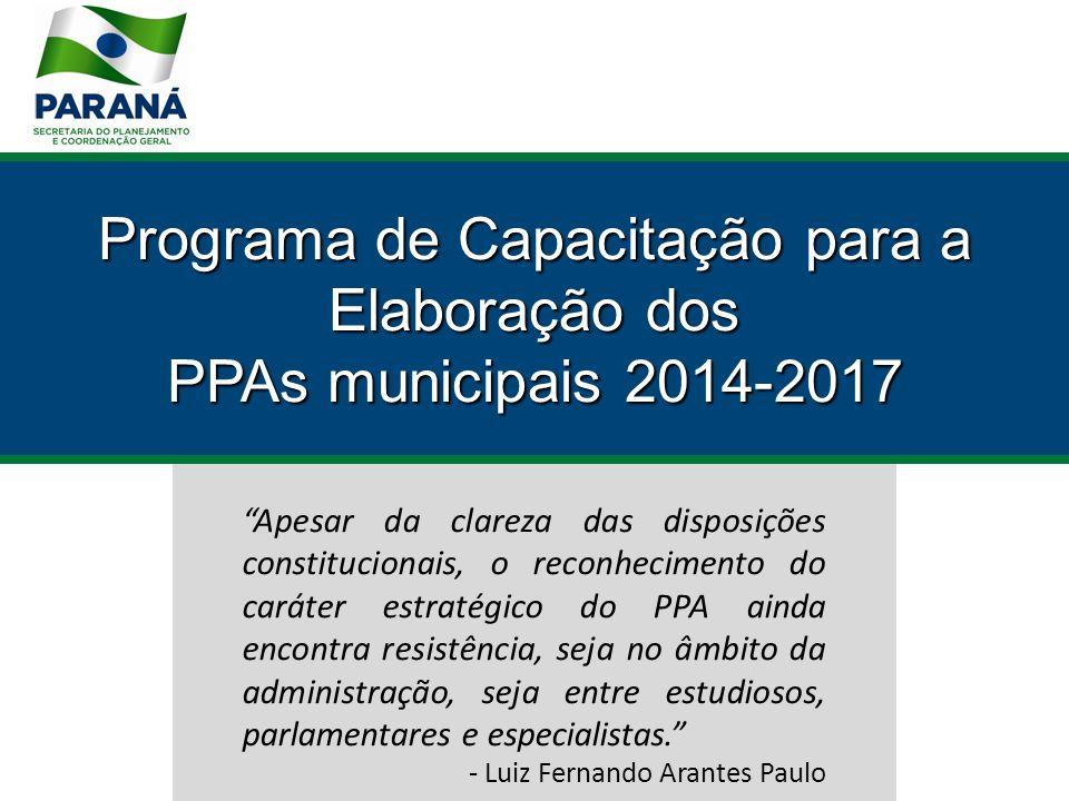 Os PPAs no pós Real Sistema de monitoramento, avaliação e revisão.