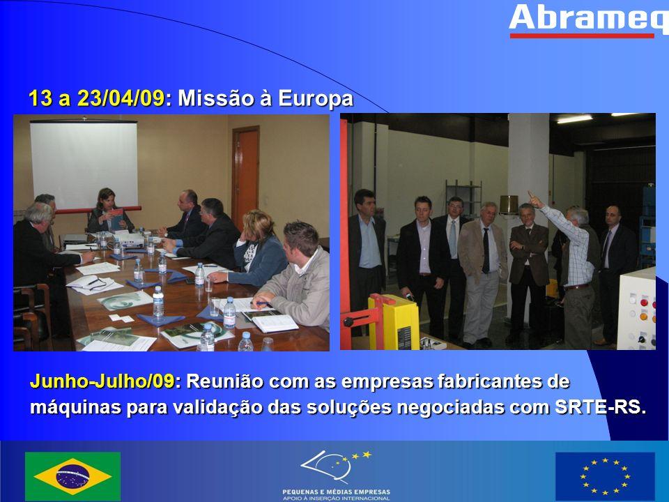 Maio/10: 2ª Missão à Europa
