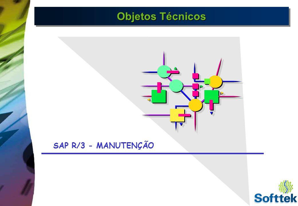Objetos Técnicos Objetos Técnicos - São estruturas que tem por objetivo armazenar todas as informações das unidades do sistema Técnico : Locais de Instalação e Equipamentos.Estas uni- dades são organizadas de maneira formal,onde encontram- se cadastrados dados que seguem uma estrutura lógica e hierárquica.