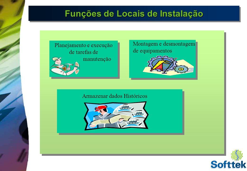 Codificação de Locais de Instalação Representa os níveis hierárquicos da estrutura do Local de Instalação.