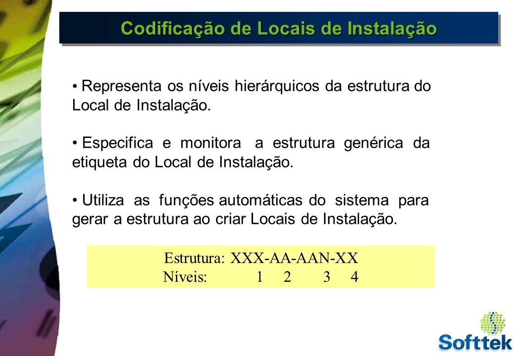 EquipamentosEquipamentos Objeto individual do sistema cuja manutenção é executada individualmente.