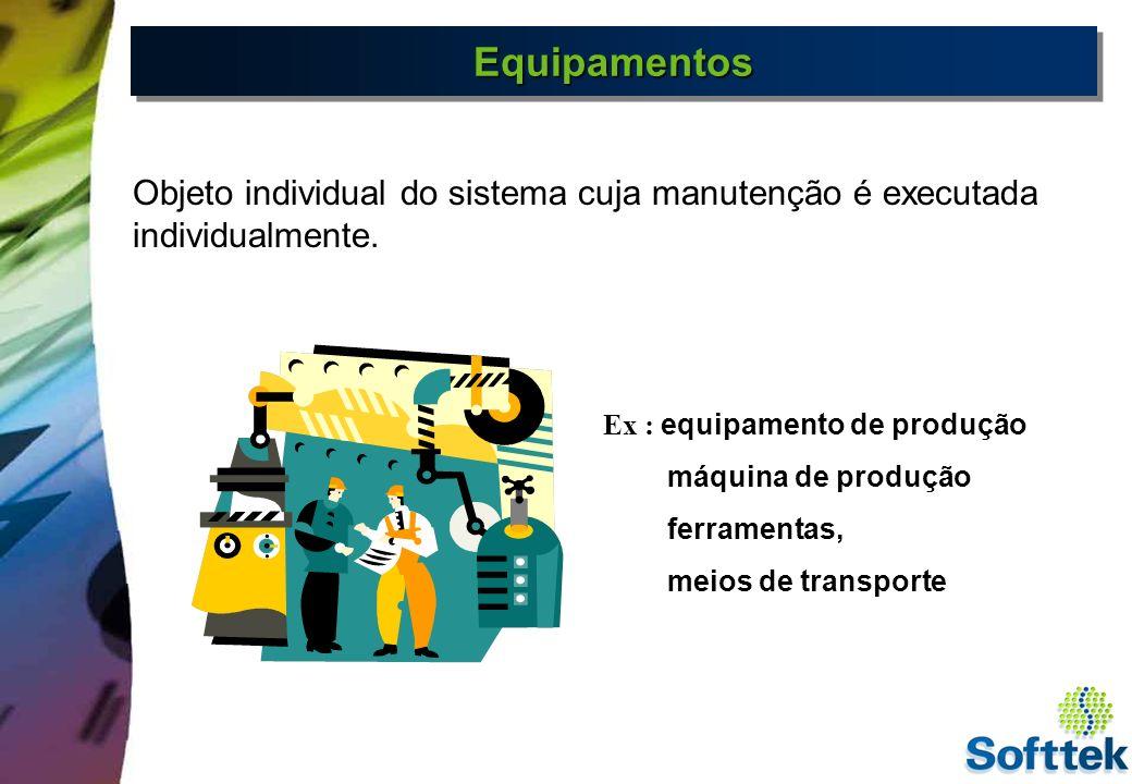 Funções de Equipamentos Planejamento e execução de tarefas de manutenção Planejamento e execução de tarefas de manutenção Montagem e desmontagem de equipamentos em Locais de Instalação Manutenção e historico independente Gerenciamento de Localização de equipamento