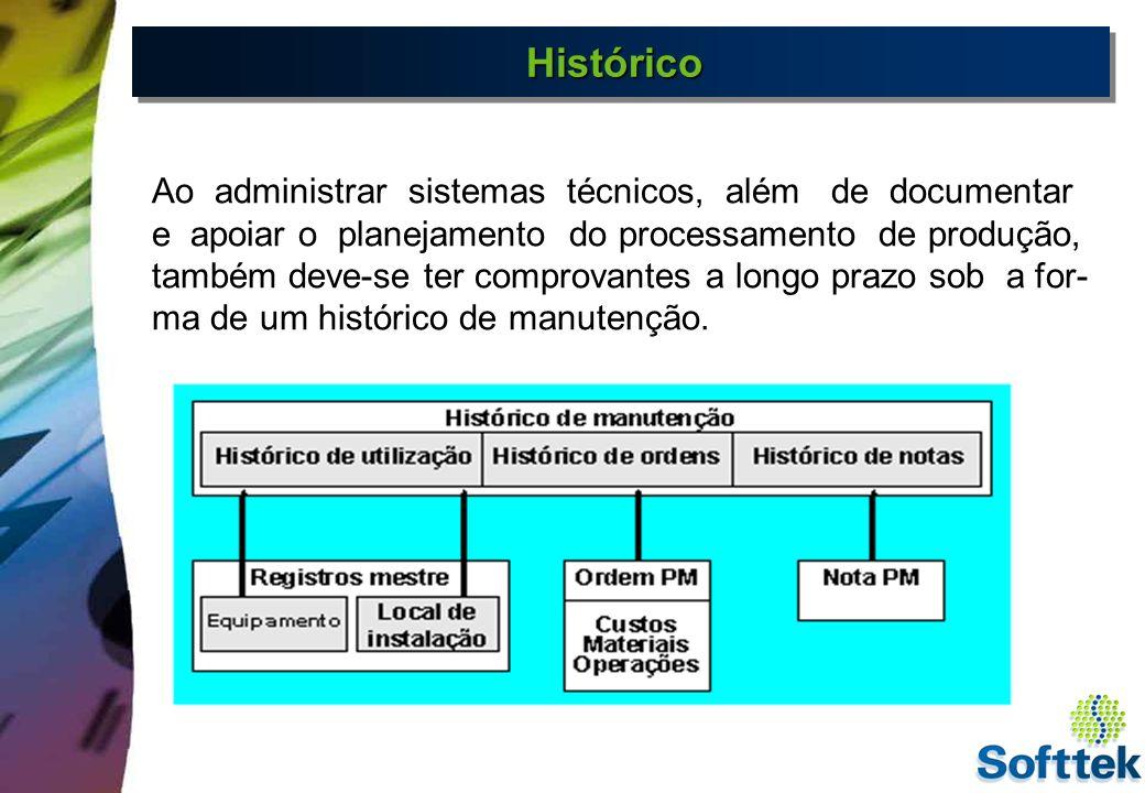 HistóricoHistórico O histórico PM é importante pelas seguintes razões: Registro das atividades de manutenção - Por razões de segurança, deve ser possível provar que a manutenção preventiva e as inspeções requisitadas no passado foram realizadas.