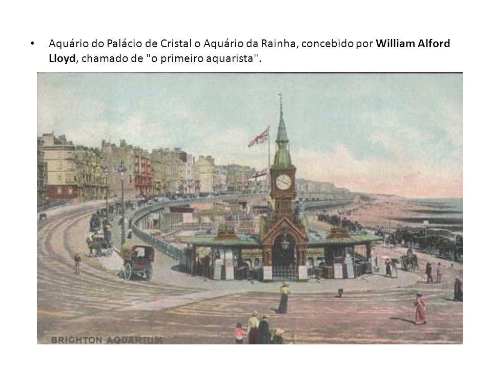 Aquário do Palácio de Cristal o Aquário da Rainha, concebido por William Alford Lloyd, chamado de
