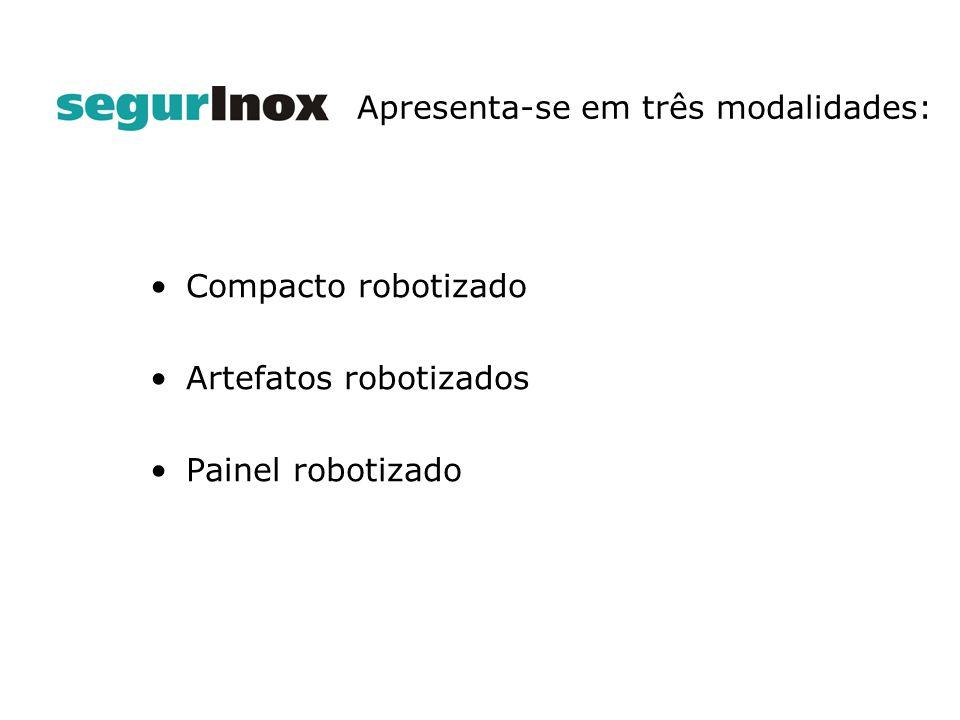 indice Compacto robotizado Artefatos robotizados Painel robotizado Apresenta-se em três modalidades: