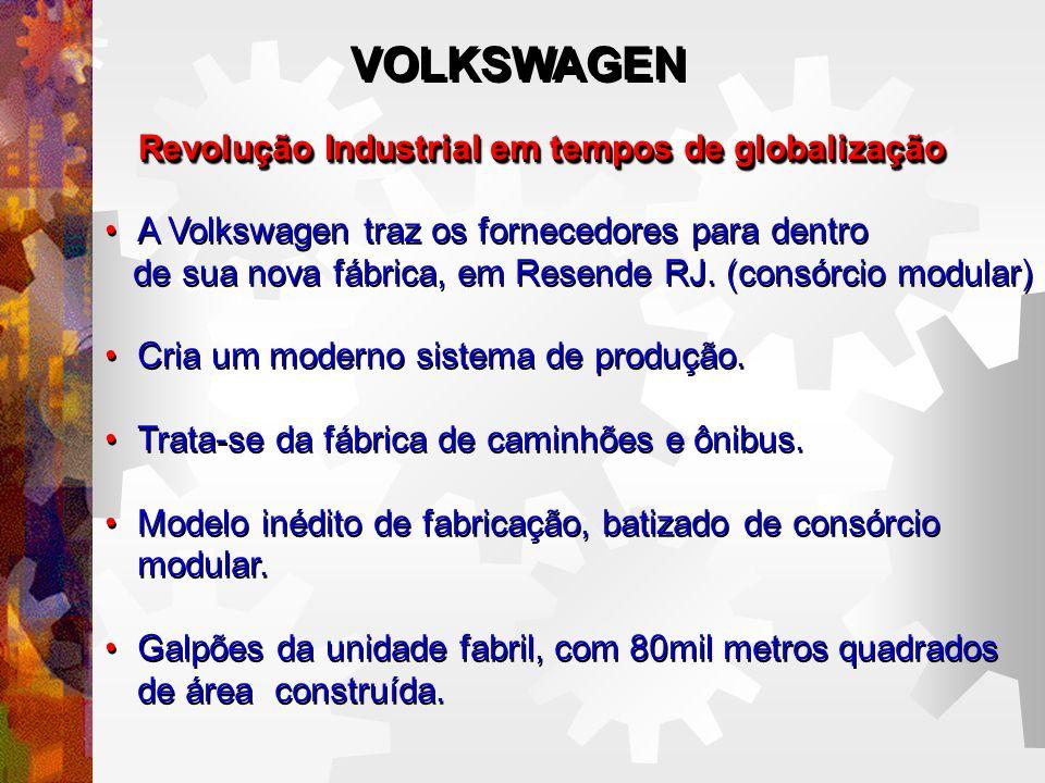 Revolução Industrial em tempos de globalização A Volkswagen traz os fornecedores para dentro de sua nova fábrica, em Resende RJ.