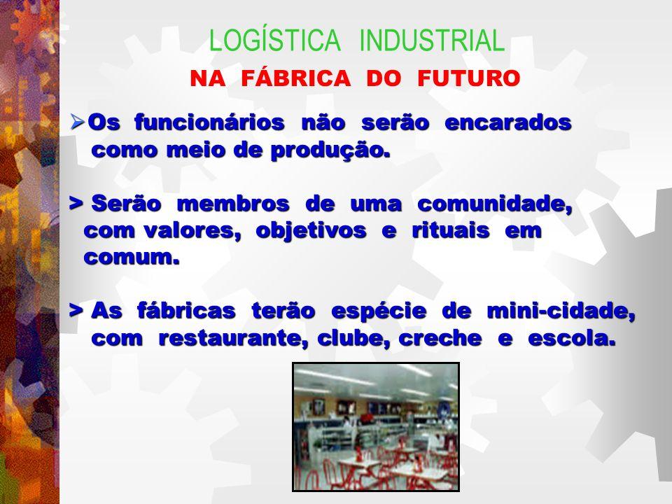 LOGÍSTICA INDUSTRIAL NA FÁBRICA DO FUTURO Os funcionários não serão encarados Os funcionários não serão encarados como meio de produção.