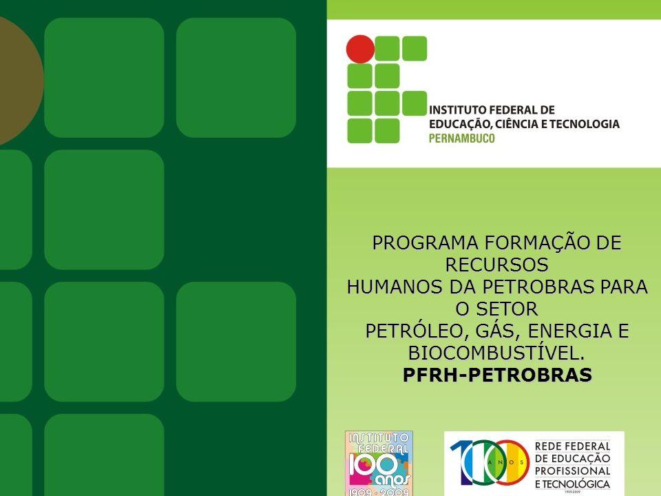 Instituto Federal de Educação, Ciência e Tecnologia · A Instituição AS BOLSAS PETROBRAS As bolsas são um incentivo à capacitação de estudantes interessados em atuar no setor de Petróleo, Gás, Energia e Biocombustíveis.