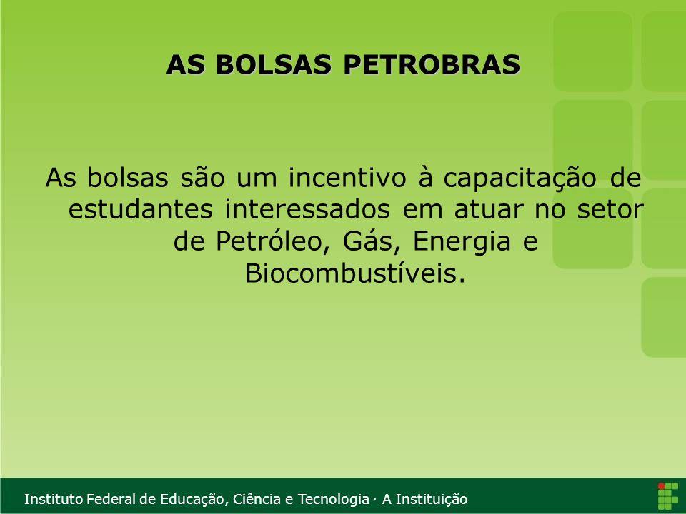 Instituto Federal de Educação, Ciência e Tecnologia · A Instituição II - Petróleo: Legislação, Controle e Tributação no Brasil 1 - Desenvolvimento da Indústria do Petróleo no Brasil 2 - A flexibilização da exploração do Petróleo: A Lei 9478 3 - Royalties e Participações Governamentais 4 - Petróleo: Regulação e Fiscalização 5 - Leilões (Licitações) e Contratos de Concessão 6 - Especificação e Controle da Qualidade dos Combustíveis 7 - A Política de Preços do Petróleo e dos Derivados 8 - Levantamento e Acompanhamento dos Preços dos Combustíveis 9 - A Indústria do Petróleo e o Licenciamento Ambiental 10 - Política de Empregos na Indústria do Petróleo
