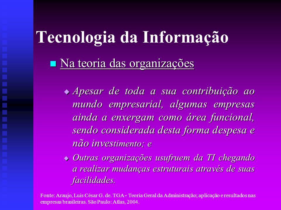 Fonte: Araujo, Luis César G.de.