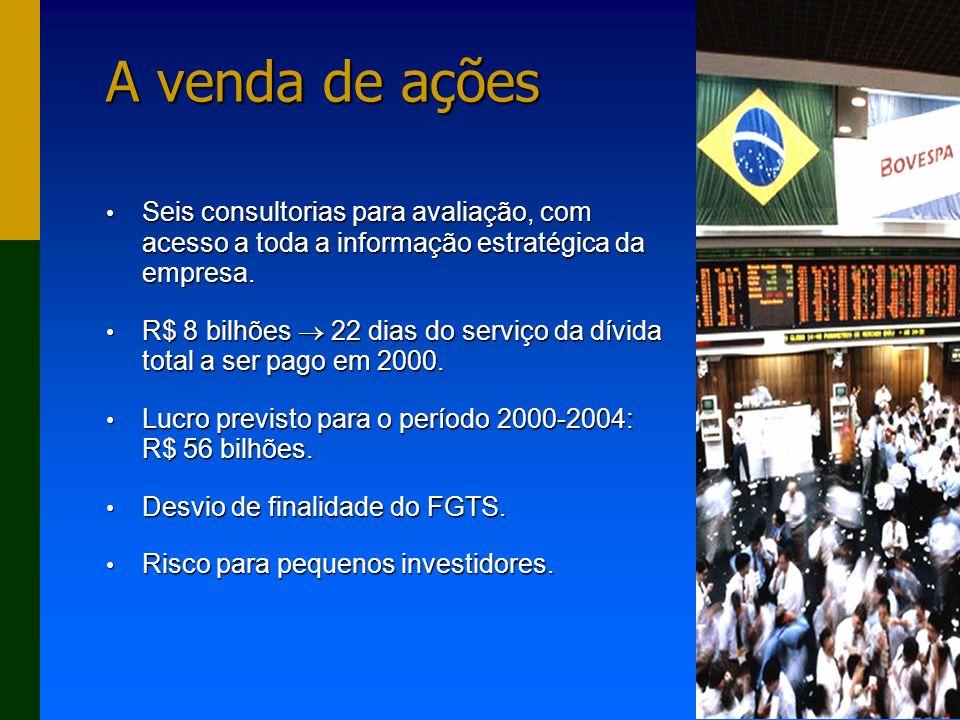 AEPET - 39 A venda de ações Seis consultorias para avaliação, com acesso a toda a informação estratégica da empresa.
