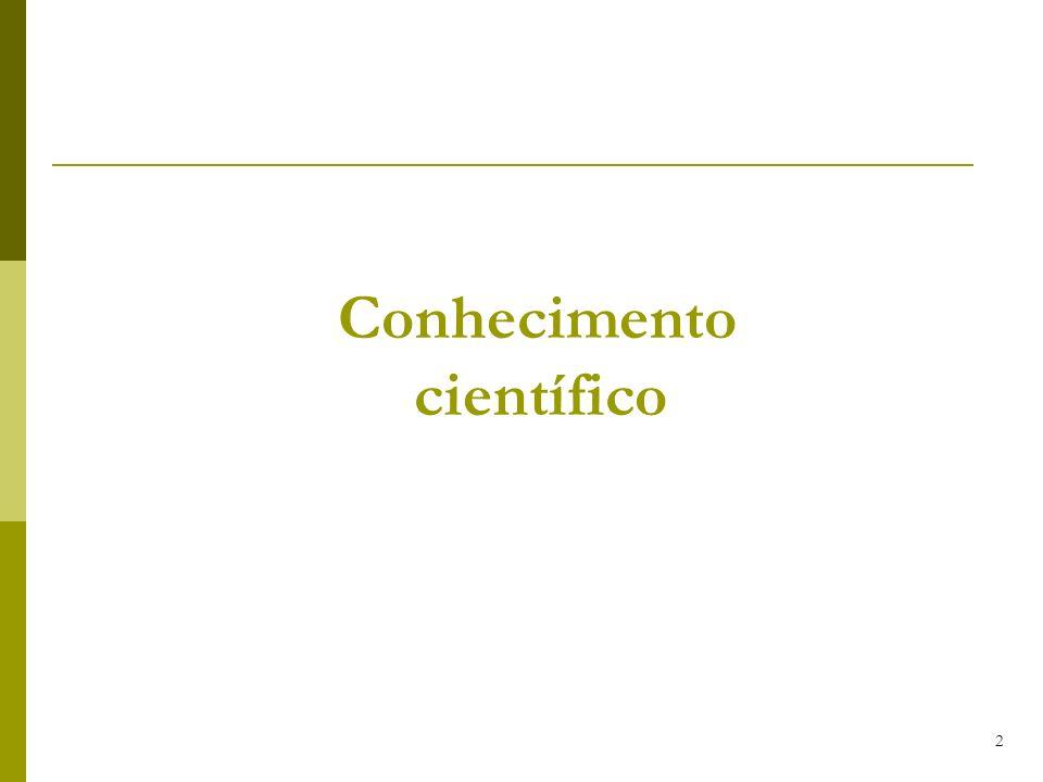 2 Conhecimento científico