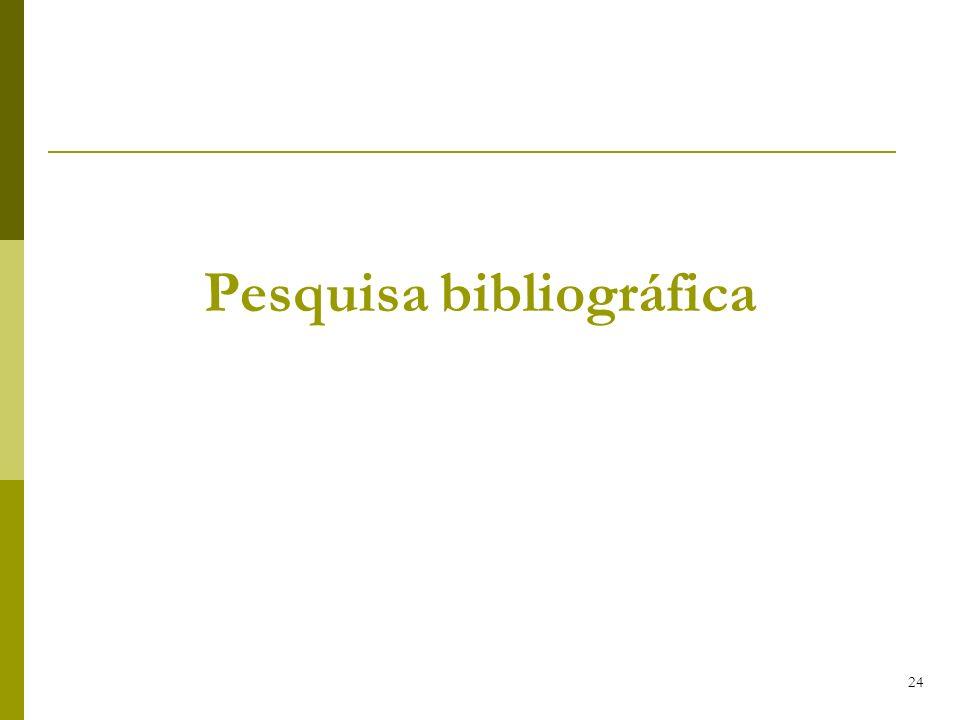 24 Pesquisa bibliográfica